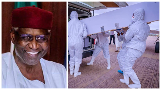 Photos and video of Abba Kyari's burial in Abuja