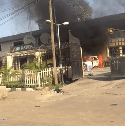 Nation Newspaper head Office on fire