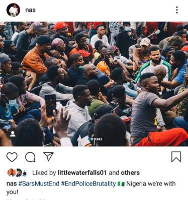 NAS reacts to #EndSARS protests