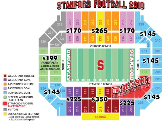 Stanford Football Seating Chart Rows Brokeasshome Com