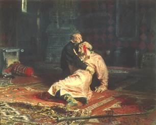 картина Ильи Репина «Иван Грозный и сын его Иван. 16 ноября 1581 года»,