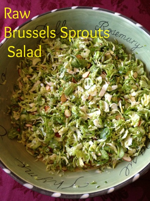 Raw Brussels Sprouts Salad