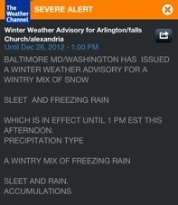 Weather Channel App (winter advisory)