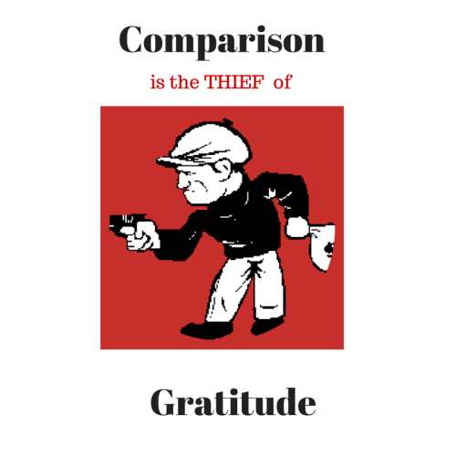 Comparison Is The Thief Of Gratituted