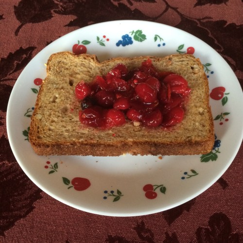 Cranberry Sauce On Toast
