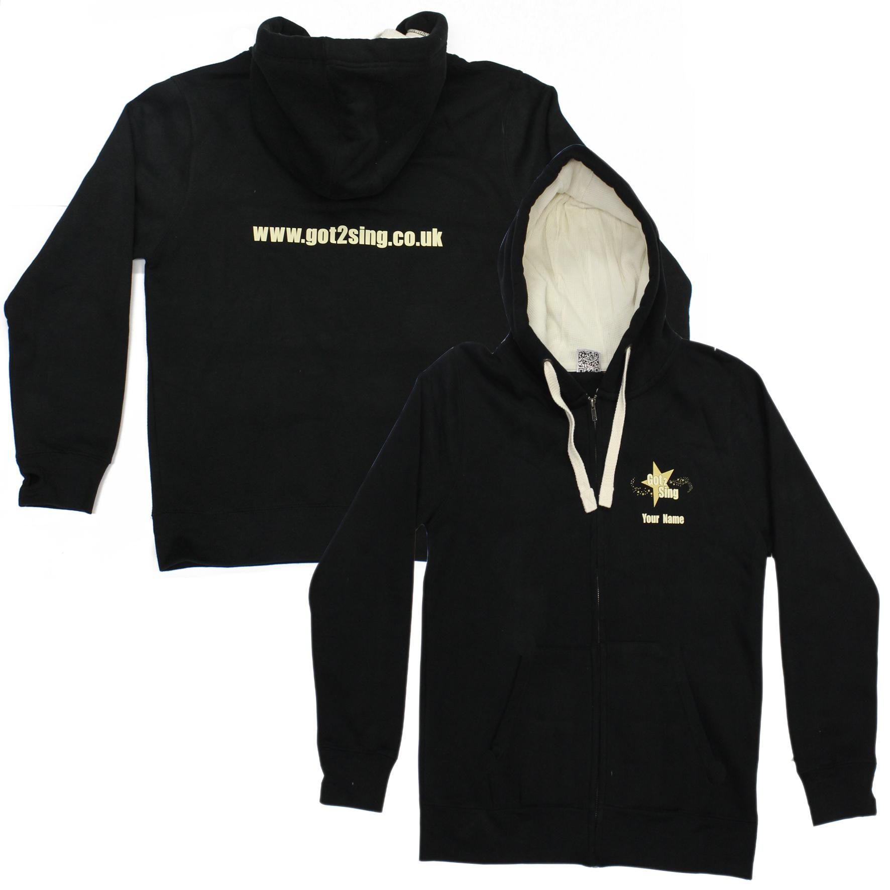 got 2 sing unisex zipped hoodie
