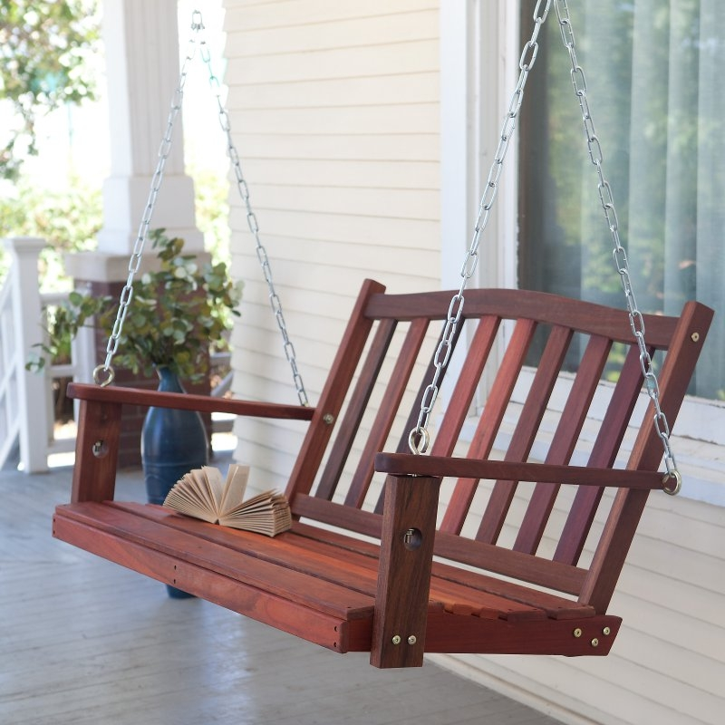 wooden swing porch assembly by Got a Hand
