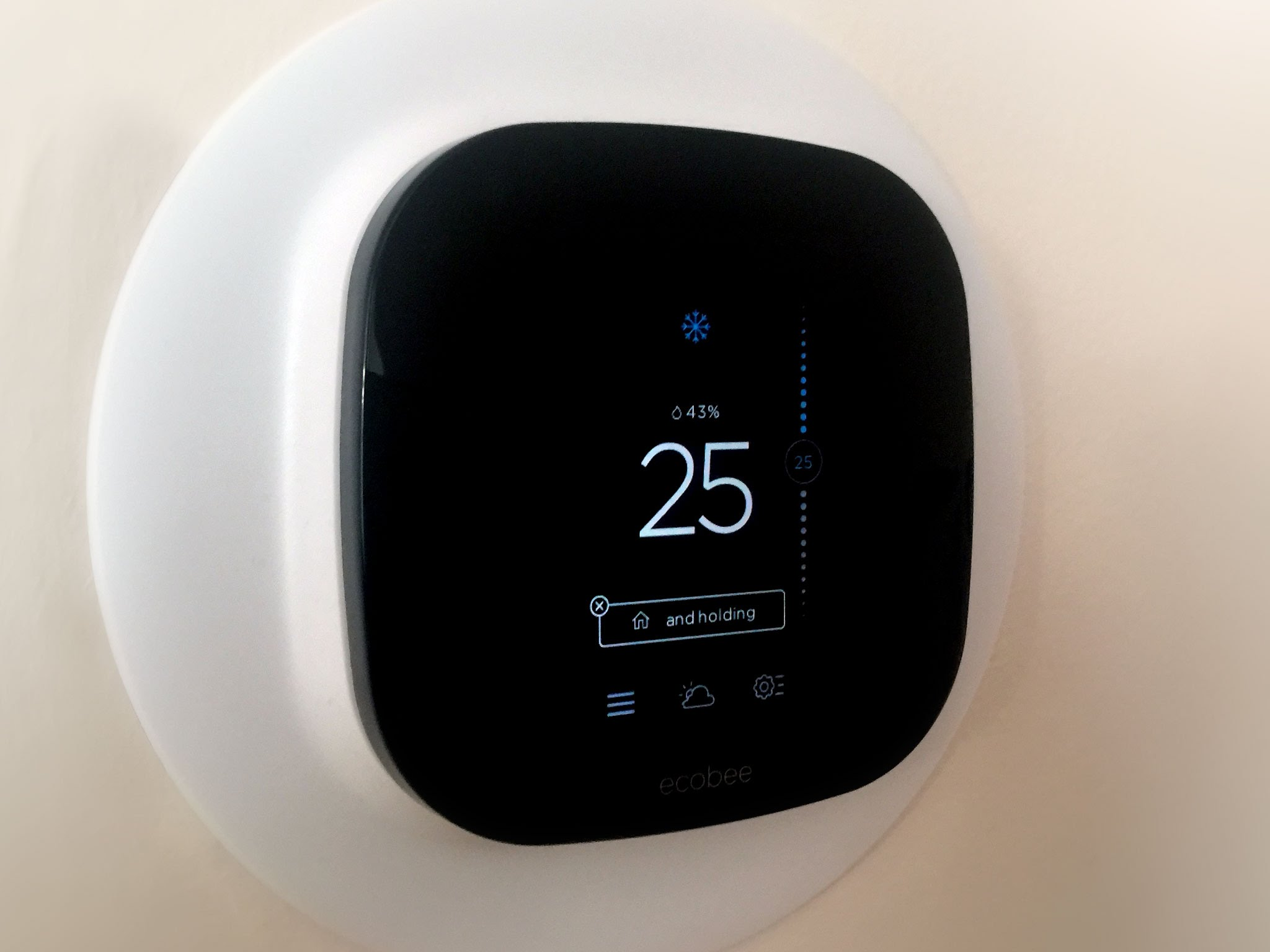 Smart square shaped thermostat installed by Got a Hand