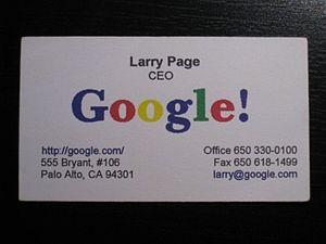English: Français : Carte de visite de Larry (Vista Print Free Business Cards)