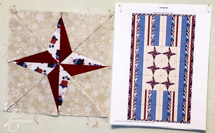 Patriotic Star Banner Block Design