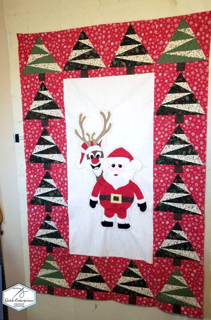 Santa Banner Pieced