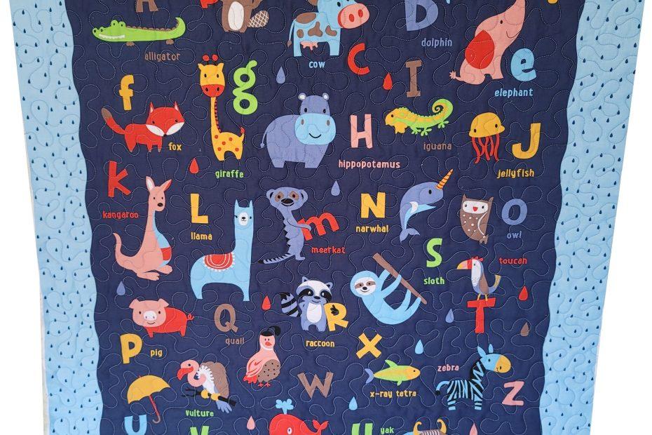 Alphabet Baby Quilt Front