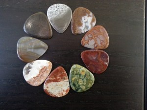 Stone Guitar Pick Pockets