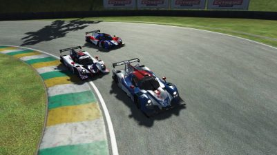 Oliver racing the Ligier JSP3 at Interlagos