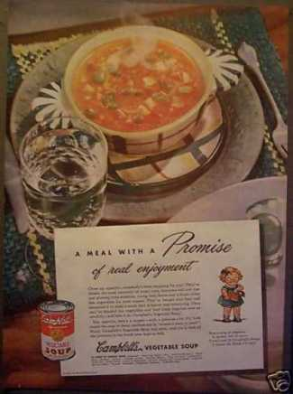 Campbell's Vegetable Soup Meal With a Promise (1945)