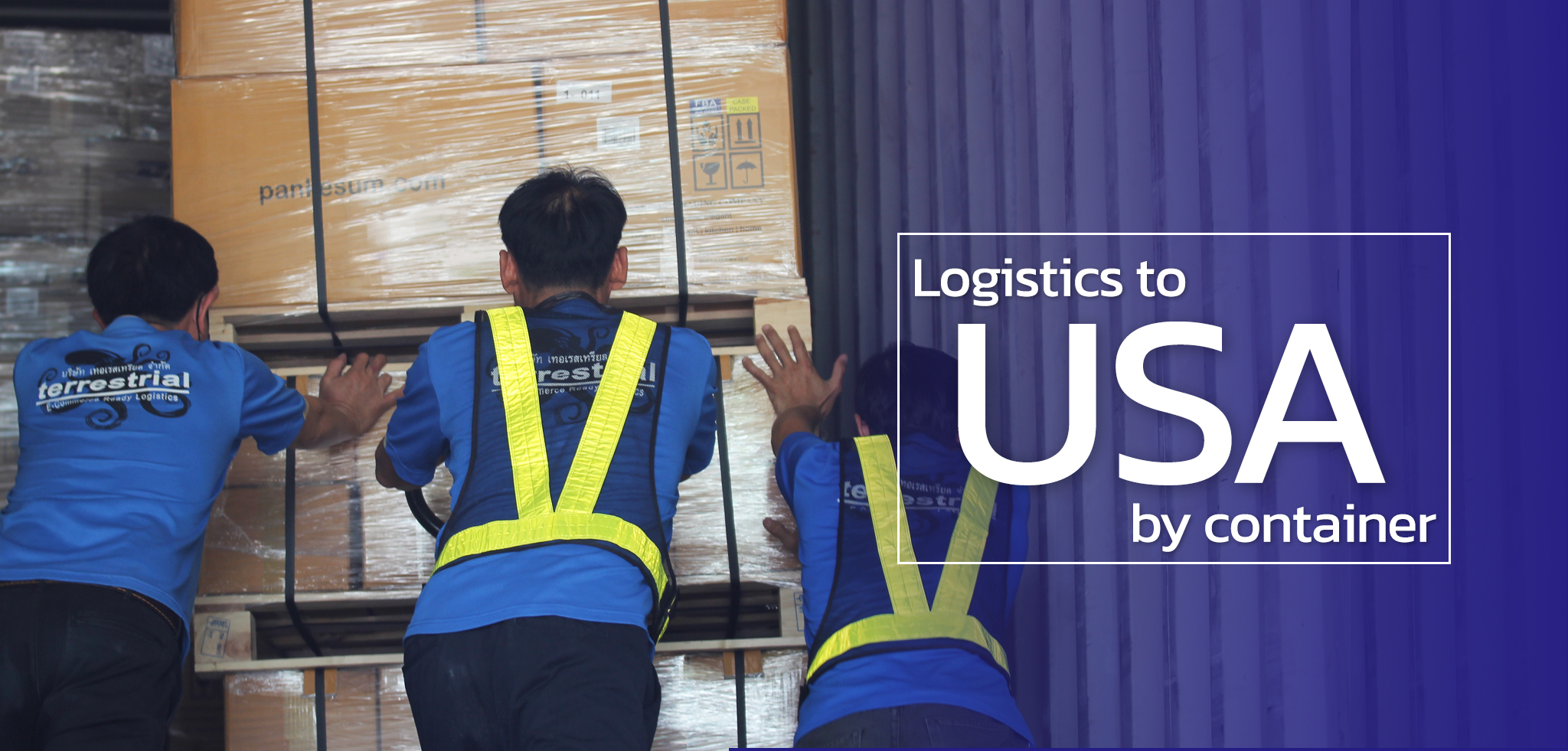 logistics to usa by container
