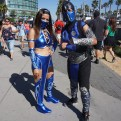 Kitana and Sub-Zero from Mortal Kombat