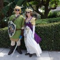 Link and Zelda from The Legend of Zelda, deal with it B)