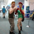 Guile and Cammy from Street Fighter