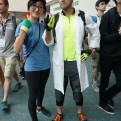 Professor Willow joined by a Pokemon Trainer from Pokemon Go