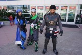 Captain Ana Amari, Sparrow Genji, and Blackwatch Commander Reyes Reaper from Overwatch.