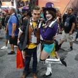 Handsome Jack and Mad Moxxi from the Borderlands series.