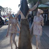 Pyramid Head joined by some nurses from Silent Hill.