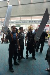Zack Fair and Advent Children Cloud from Final Fantasy VII, as well as a Petyr Baelish from Game of Thrones.