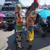 Rikku and Wakka from Final Fantasy X.