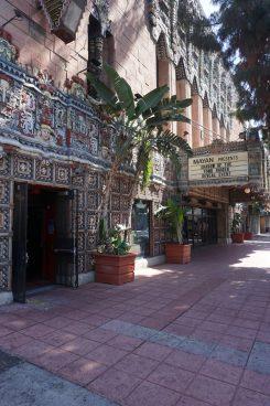 Exterior shot of the Mayan nightclub.