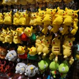 Lots of Pokemon plushies for sale at Fanime.