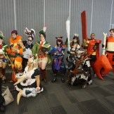 Yet another shot of the Monster Hunter cosplay group gathering. Featuring VampyBitMe and Maguma.