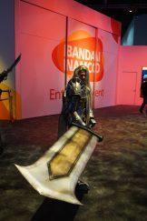 Bandai Namco's Siegfried cosplayer for SoulCaliur VI at E3 2018.