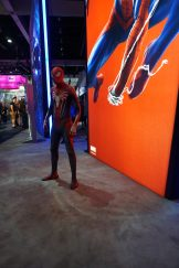 Sony's official Spider-Man cosplay from Marvel's Spider-Man at E3 2018.