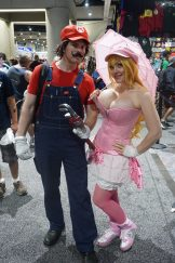 Alina as Princess Peach with her Mario. Find Alina on Twitter (@AlinaMasquerade)!