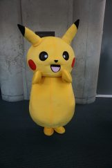 The iconic Pikachu from the Pokémon series.