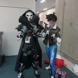 Reaper and Tracer from Overwatch.