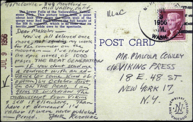 Jack Kerouac issued an ultimatum re: ON THE ROAD to his editor at Viking - peoplewhowrite