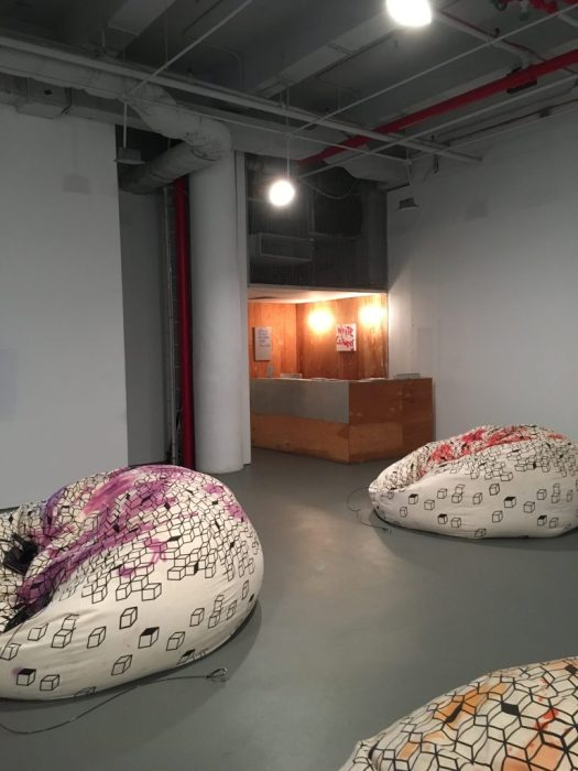 Beanbags, White Columns