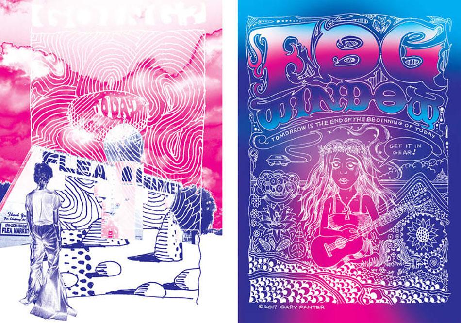 Gary Panter Hippie Trip At Marlborough Contemporary
