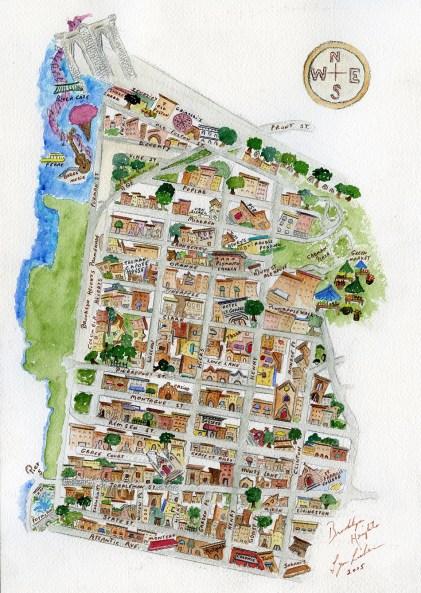 Map of Brooklyn Heights