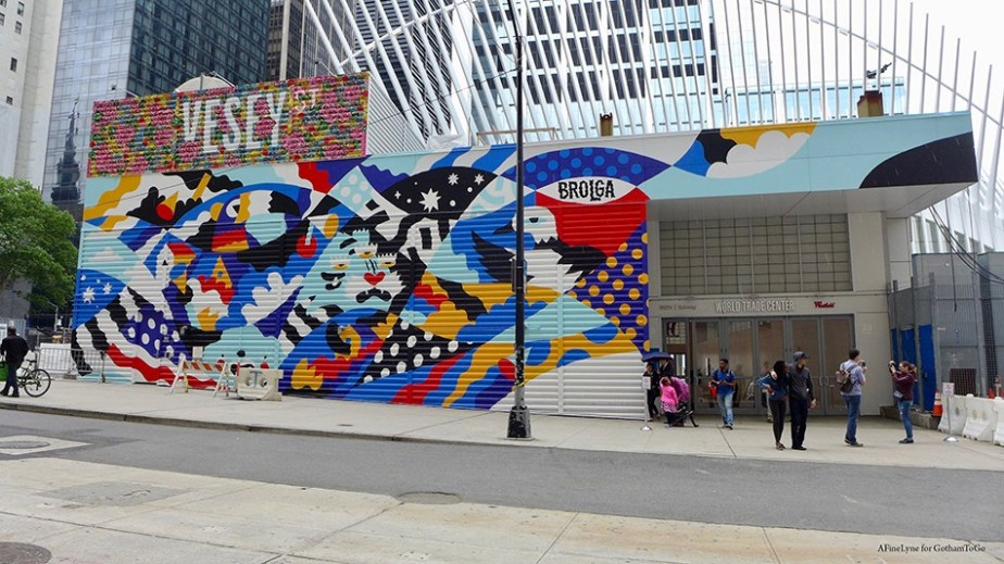 Image result for graffiti walls at WTC