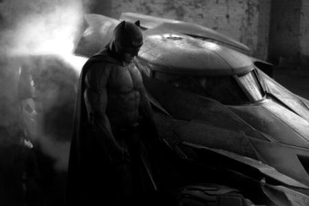 Batfleck and Batmobile