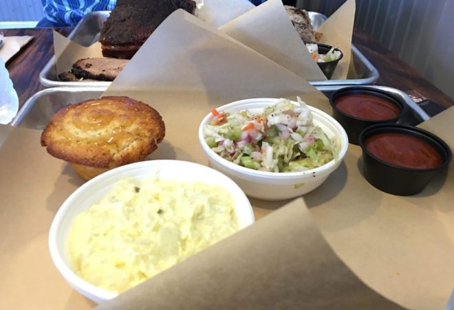 Love the cole slaw and jalapeno cornbread.