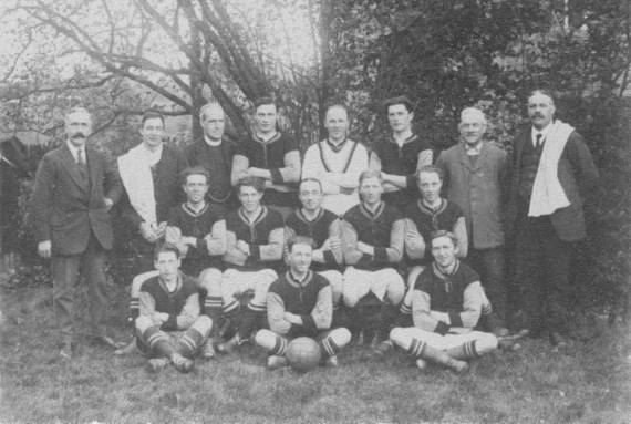 Our football team in the early 20th century.
