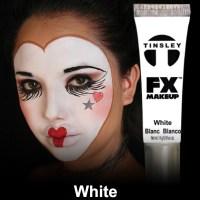 White paint makeup