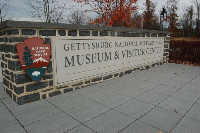 Entering the Visitor's Center at Gettysburg National Military Park