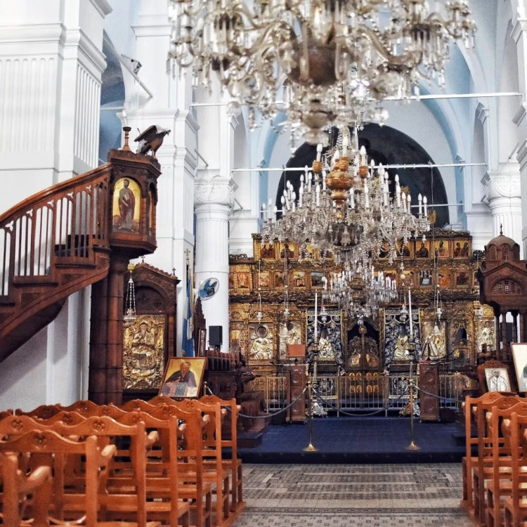 The interior of Faneromeni Church