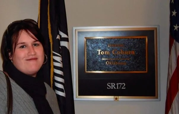 Picking up the tickets from Senator Tom Coburn's office