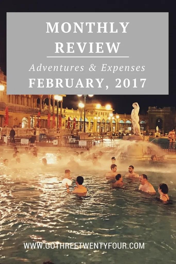 February 2017: Adventures & Expenses